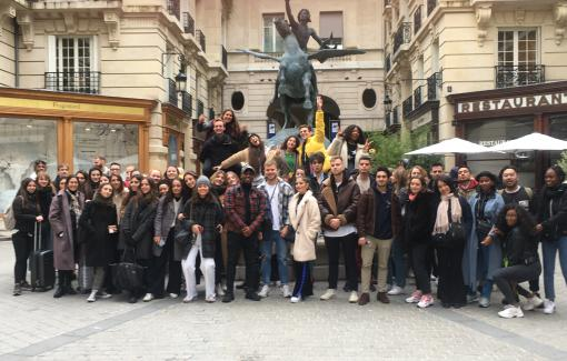 Les étudiants du bloc 3 Marketing Communication à Paris