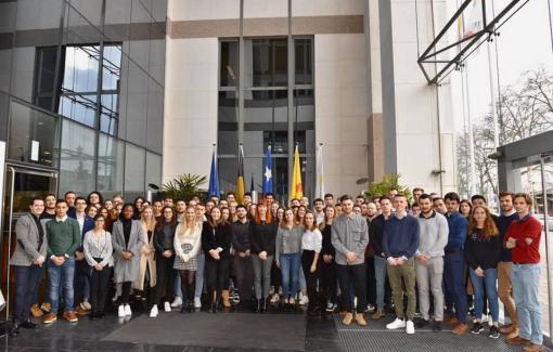 Huit étudiants de commerce extérieur en stage avec l'Awex Explort